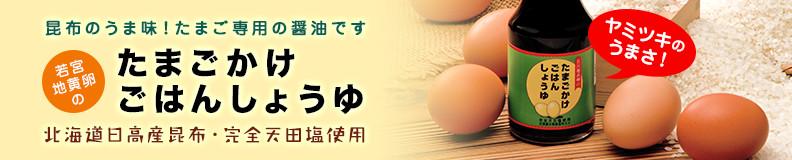 昆布のうま味!たまご専用の醤油です 若宮地黄卵のたまごかけごはんしょうゆ 北海道日高産昆布・完全天田塩使用
